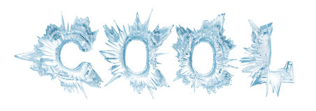 Cool. Ice crystal letters. The Word - Cool Royalty Free Stock Photo