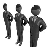Cool 3d businessman team icon on tuxedo. Suit illustration Stock Photo