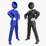 Cool 3d businessman team icon on tuxedo. Suit illustration Stock Image