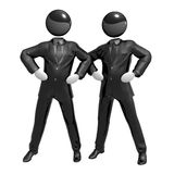 Cool 3d businessman team icon on tuxedo. Suit illustration Royalty Free Stock Photography