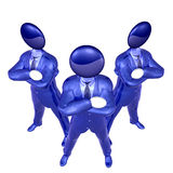 Cool 3d businessman team icon on tuxedo Royalty Free Stock Photo
