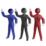 Cool 3d businessman team icon on tuxedo Stock Image
