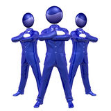 Cool 3d businessman team icon on tuxedo Royalty Free Stock Images