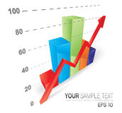 Cool 3D Graph. This image is a vector file representing a 3D Graph,  all the elements can be scaled to any size without loss of resolution Royalty Free Stock Photography