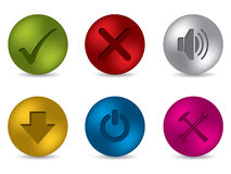 Cool 3d matte button set Stock Photo