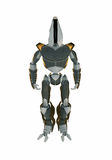 Cool 3d robot. Fantastic futuristic 3d robot isolated on white Stock Photography