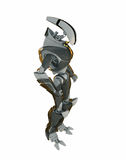 Cool 3d robot. Fantastic futuristic 3d robot isolated on white Royalty Free Stock Photography