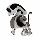 Cool 3d robotic toy. 3d futuristic friend - robot pet - dog Stock Image