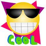 Cool 8-). An illustration of an emoticon Royalty Free Stock Photography