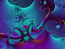 Cool Abstract Art Background. Fractal art image takes you into a mysterious world of abstract shapes, colors, and elements. Ideal as a background, layer or stock photography