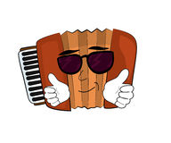 Cool Accordion illustration Royalty Free Stock Image