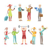 Cool And Active Old People Royalty Free Stock Photo