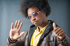 Cool African American Man with glasses Stock Photography