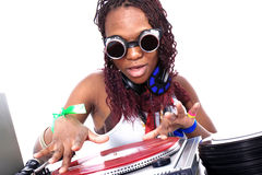 Cool afro american DJ Stock Photo