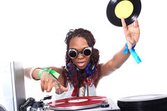 Cool afro american DJ Royalty Free Stock Photography