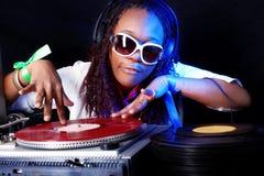 Cool afro american DJ Stock Photos