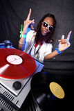 Cool afro american DJ Stock Image