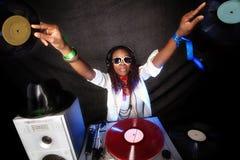Cool afro american DJ Royalty Free Stock Image