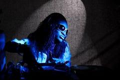 Cool afro american DJ Stock Image