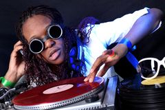 Cool afro american DJ Royalty Free Stock Photos