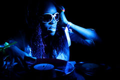 Cool afro american DJ Stock Photo