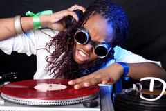 Cool afro american DJ Stock Images