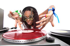 Cool afro american DJ Stock Photos
