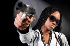 Cool afro american gangster Stock Image