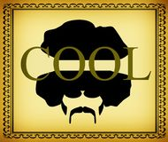 Cool afro man design Stock Image