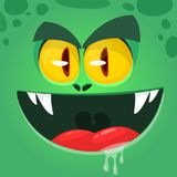 Cool angry cartoon monster. Vector Halloween zombie avatar with wide mouth. Illustration isolated. Cool angry cartoon monster. Vector Halloween zombie avatar vector illustration