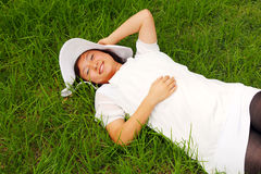 Cool Asian girl Royalty Free Stock Images