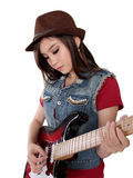 Cool Asian rocker lady Royalty Free Stock Image