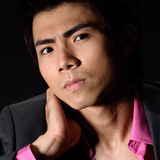 Cool Asian young businessman Royalty Free Stock Images