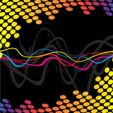 Cool Audio Waves. A wavy lines background indicating frequency or audio waves Stock Photography