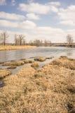 Cool Autumn Bow River Portrait Landscape royalty free stock photography