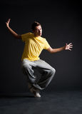 Cool b-boy dancing Royalty Free Stock Image