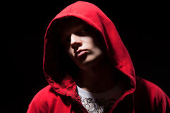 Cool b-boy in red jacket Stock Photography