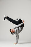 Cool b-boy standing in freeze Royalty Free Stock Photography