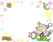 Cool baby background with funny baby Stock Image