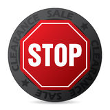 Cool badge with stop sign Stock Images