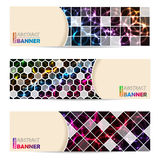 Cool banner set with abstract laser plasma background Stock Photo