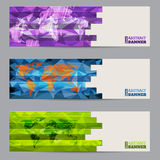 Cool banner set of three with abstract stripes Stock Image