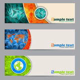 Cool banners with abstract geometrci shapes Stock Photo