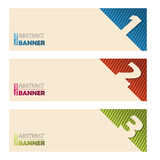 Cool banners with abstract striped background Royalty Free Stock Image