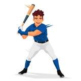 Cool baseball player. Sport Stock Image