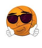 Cool Basketball ball cartoon Royalty Free Stock Image