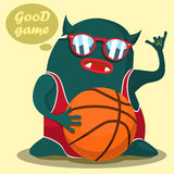 Cool basketball monster graphic Stock Image