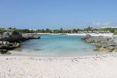Cool beach in Riviera Maya. Sea view in Riviera Maya Royalty Free Stock Photo