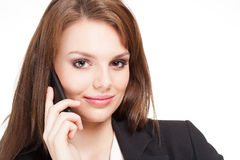 Cool beautiful young businesswoman. Royalty Free Stock Photos