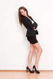 Cool beautiful young businesswoman. Stock Photos